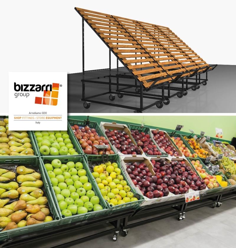Realizzazioni arredamento supermercati for Arredamento ortofrutta in legno